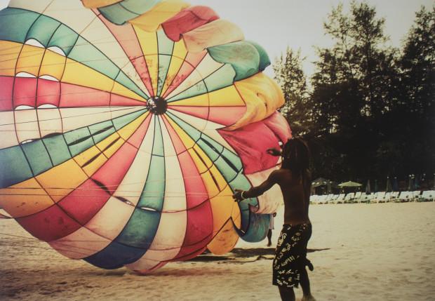 Lionel Gasperini, Man with Parachute, 2012
