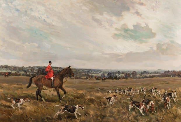 Arthur Thatcher with the Fernie hounds