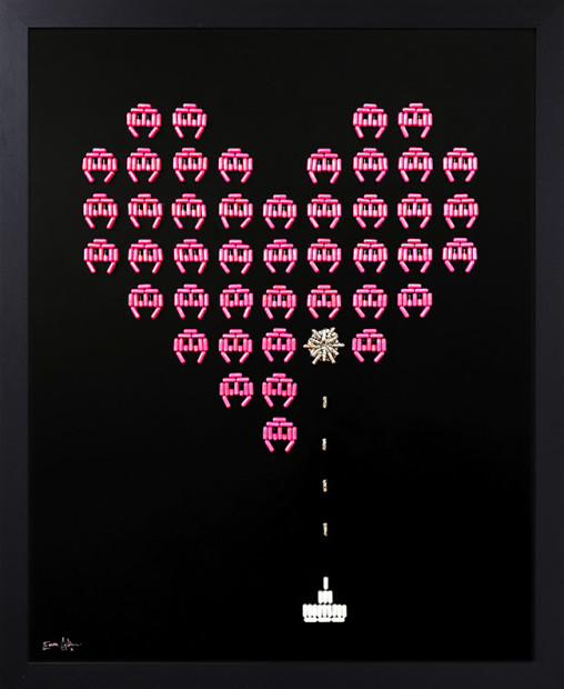 "Emma Gibbons, Space Invaders"" (Love Struck), 2021"