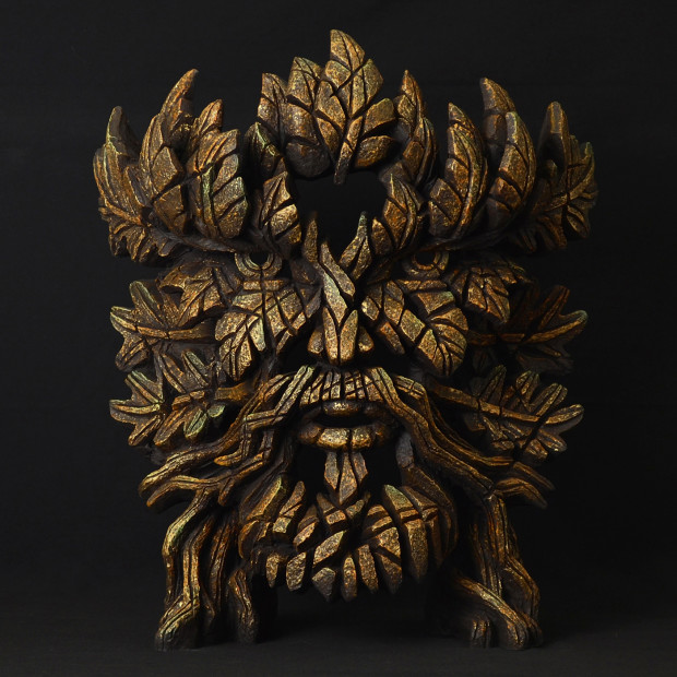 Matt Buckley, Green Man Bust - Smouldering Brown Rust, 2017
