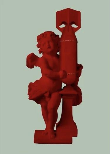 Magnus Gjoen, CUPID (AMOR VINCIT OMNIA) - Red, 2020