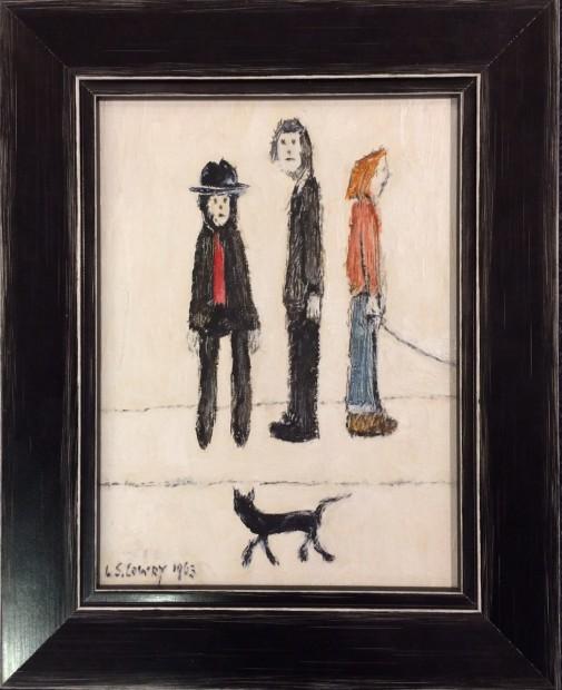 Peter Osborne, LS Lowry - Three Men And A Cat, 2018