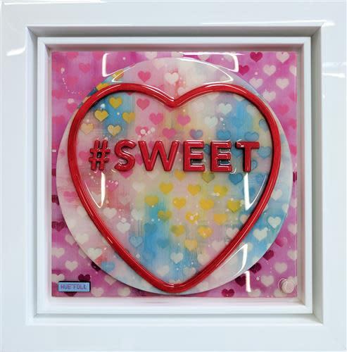 Hue Folk Sweet - Pink, 2018 Original, Laser Cut, Aerosol, Acrylic and Resin Framed Size 22 x 22 in Framed Size 55.9 x 55.9 cm