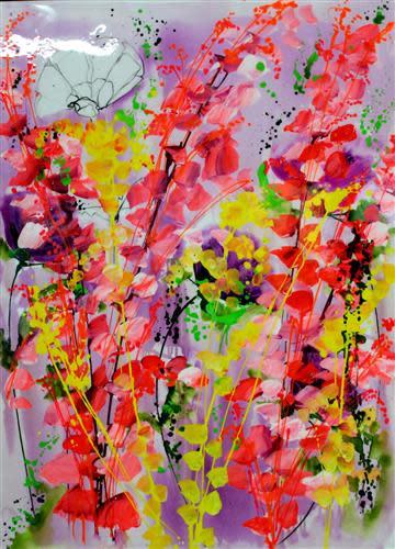 Jean Picton, Burst of Pink, 2018