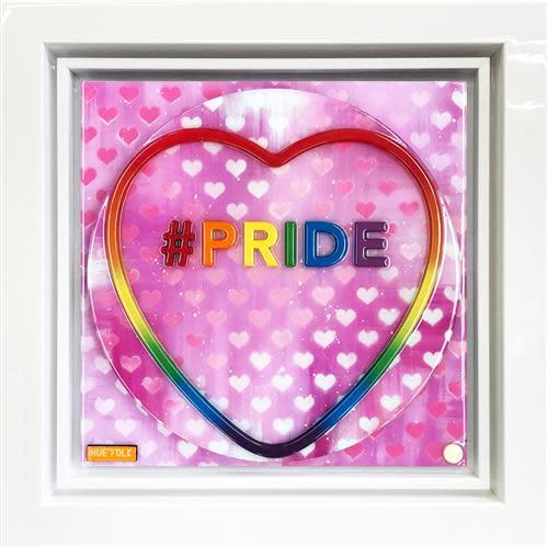 Hue Folk Pride, 2018 Original, Laser Cut, Aerosol, Acrylic and Resin Framed Size 22 x 22 in Framed Size 55.9 x 55.9 cm