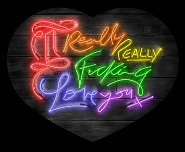 Courty Neon Art, Love & Pride - Rainbow / Pride Month Special Edition, 2020
