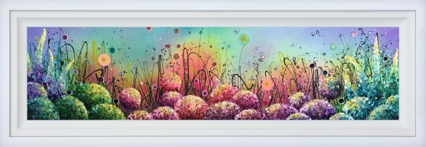 "Leanne Christie Beautiful Spectrum, 2019 Original Mixed Media Framed Size: 69"" x 24.5"" Framed Size: 174 x 62.2 cm"