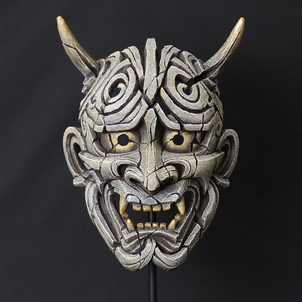 Matt Buckley, Japanese Hannya Mask - Antique White