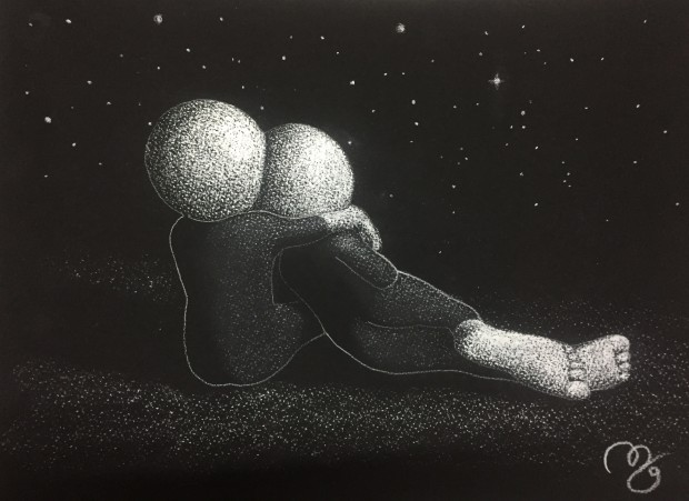 Mark Grieves, The Universe And Us - Original Sketch, 2017