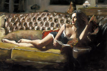 Fabian Perez, Study For Saba With Letter V, 2017