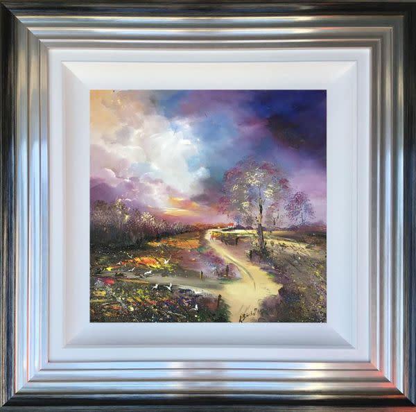 "Lillias Blackie  Roam Through The Valley , 2018  Original Oil on Board  Framed Size: 22"" x 22"""