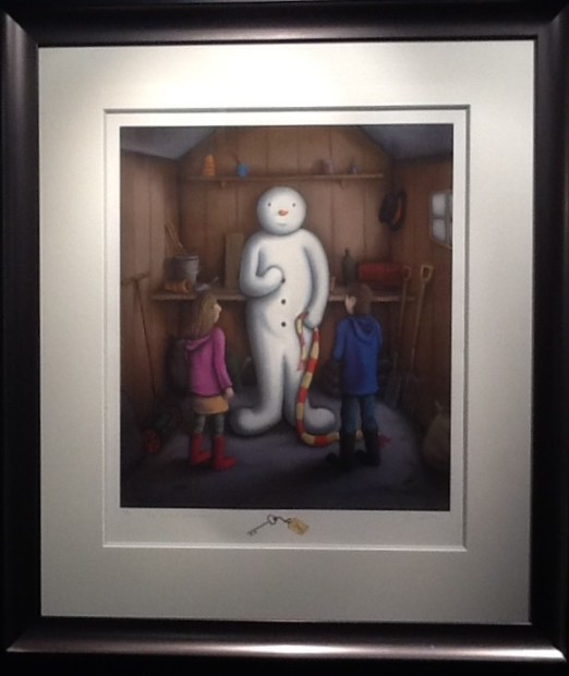 Paul Horton, The Secret Snowman - Artist Remarque
