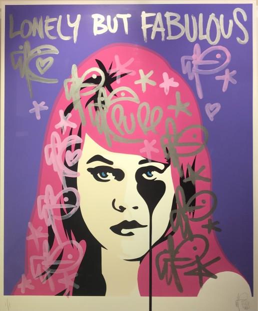 Pure Evil, Jane Fonda Hand Embellished - Pink, 2021
