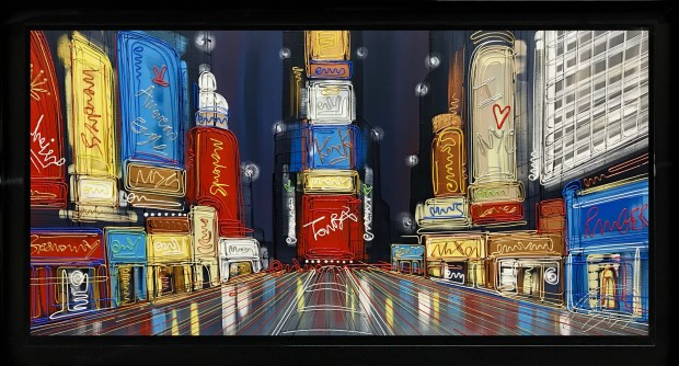 "Edward Waite I Heart NYC, 2019 Original Acrylic on Canvas Canvas Size: 24"" x 48"""