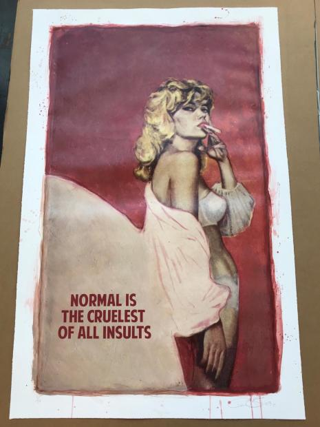"""The Connor Brothers Normal Is The Cruellest Insult, 2018 Signed Limited Edition of 20 Giclee print Hand Embellished Framed Size: 35.5"""" x 53.5"""" Framed Size: 90 x 135 cm Edition of 20"""
