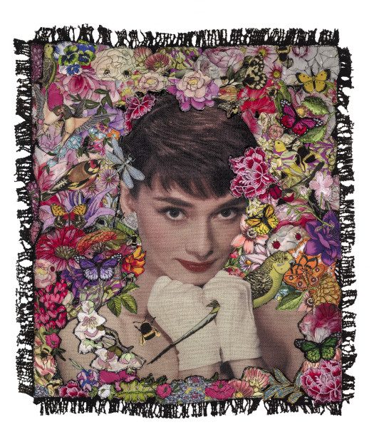 Roberta Roman Audrey - The Birds And The Bee's, 2019 Framed Limited Edition Print Framed Size 30 1/8 x 26 in Framed Size 76.5 x 66 cm Limited Edition Of 20