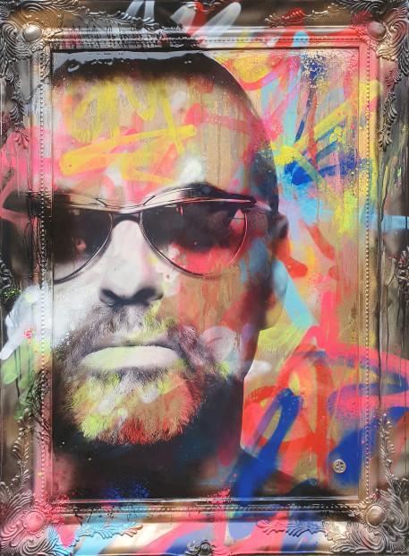 Dan Pearce Too Funky II, 2020 Original Mixed Media On Mirror Framed Size: 46 1/2 x 30 3/4 in Framed Size: 118 x 78 cm