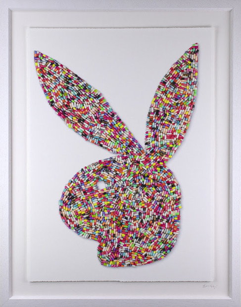 Emma Gibbons Bad Bunny - Studio Print , 2021 Multi-Coloured on White Background - Studio Print Edition Framed Size: 14 3/8 x 11 1/4 in Framed Size: 36.5 x 28.5 cm Edition of 25
