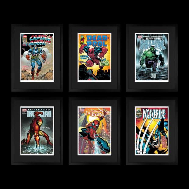 Marvel/ Stan Lee, Marvel Superheroes - Portfolio of 6 , 2018