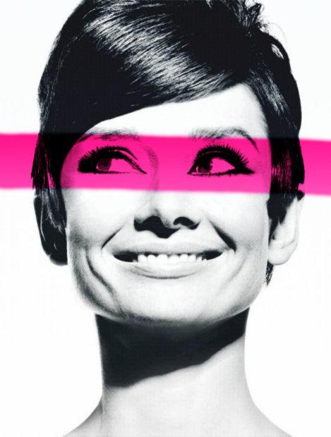 Dan Pearce, Audrey Hepburn - Pink Stripe, 2015