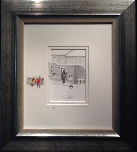 Leigh Lambert Who Threw That, 2017 Signed Limited Edition Sketch with small original remark on mount Framed Size 18 1/4 x 20 1/2 in Framed Size 46.5 x 52 cm Edition of 35