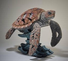 Matt Buckley Sea Turtle, 2019 Marble Resin Sculpture Only available for Pre - Order This piece will be released April 2019 13 1/4 x 17 x 11 3/4 in 33.5 x 43.2 x 30 cm