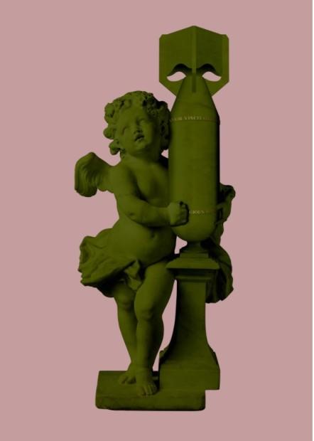 Magnus Gjoen, CUPID (AMOR VINCIT OMNIA) - Green/Pink, 2020