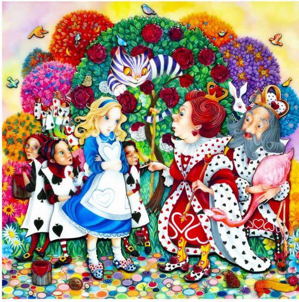 Kerry Darlington, Alice In the Rose Garden, 2020