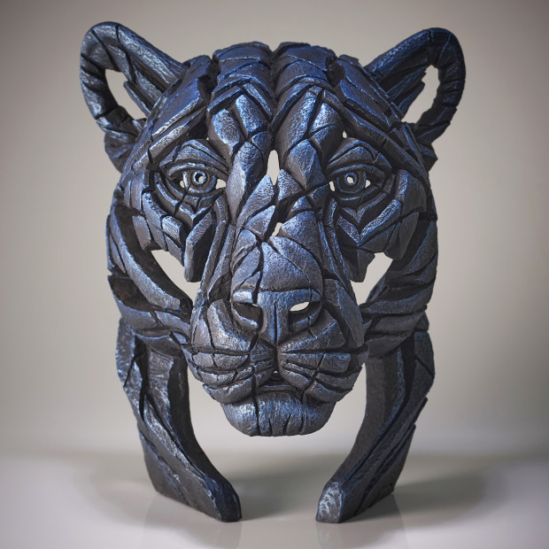 Matt Buckley, Panther Bust Night Shadow (Blue), 2020