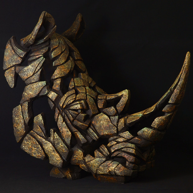 Matt Buckley, Rhino Bust - Smouldering Brown Rust , 2017