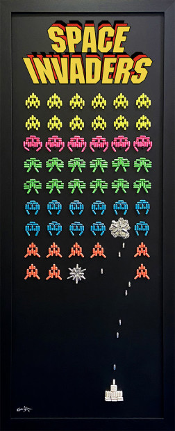 Emma Gibbons, Space Invaders - High Score, 2021