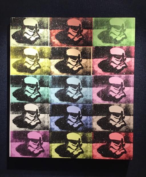 RYCA - Ryan Callanan Stormtrooper Helmet - Canvas Colour Mixed Media Box Canvas 29 1/2 x 33 1/2 in 75 x 85 cm Limited Edition 2 of 2