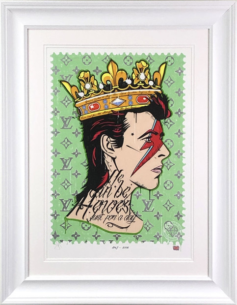 """JJ Adams We Can Be Heroes / David Bowie Rock Icon, 2019 Signed Limited Edition Framed Size: 29"""" x 23"""" Limited Edition of 45"""