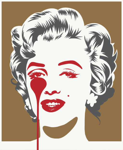 Pure Evil, Marilyn Classic - Gold & Grey , 2021