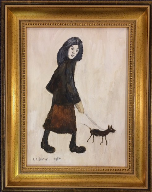 Peter Osborne, LS Lowry - Girl And A Dog, 2018