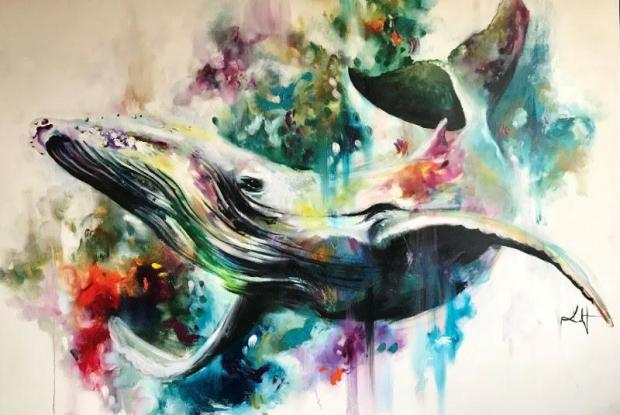 Katy Jade Dobson Humpback - Whale , 2018 Signed Limited Edition Print 37 1/8 x 29 1/8 in 94 x 74 cm Limited Edition of 75