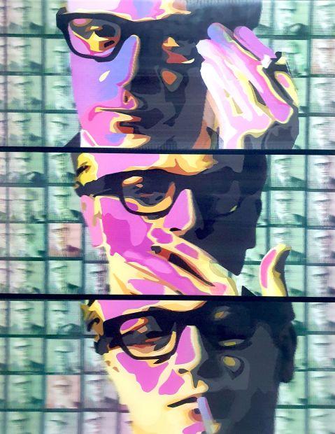 """Dan Pearce Lenticular My Name Is, 2021 Lenticular Framed Size: 32"""" x 42"""" Framed Size: 81 x 107cm"""