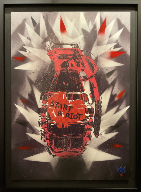 Maxim (From the Prodigy), Red START A RIOT Grenade, 2021