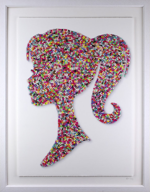 Emma Gibbons Bad Barbie -Studio Print, 2021 Multi-Coloured on White Background - Studio Print Edition Signed, Numbered & Certified limited-Edition Deckled & floated fine Art Museum Paper print Framed Size: 14 3/8 x 11 1/4 in Framed Size: 36.5 x 28.5 cm Edition of 25