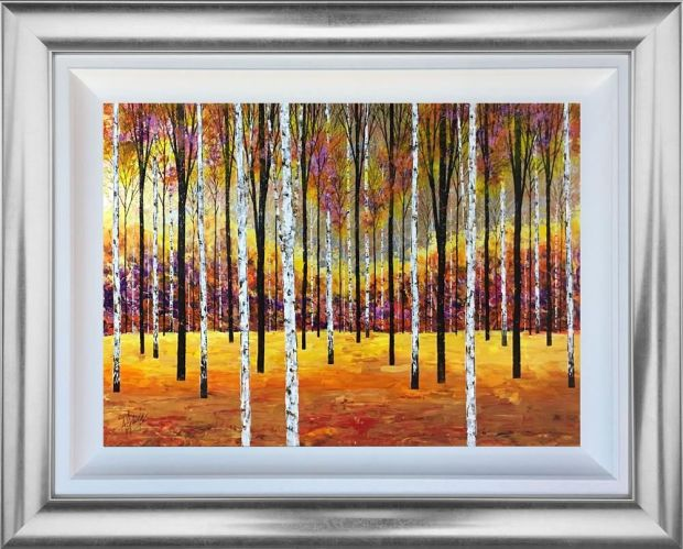 "Alex Jawdokimov Sunrise Original Mixed Media On Board Framed Size: 30"" x 38"" Framed Size: 76.2 x 96.5 cm"