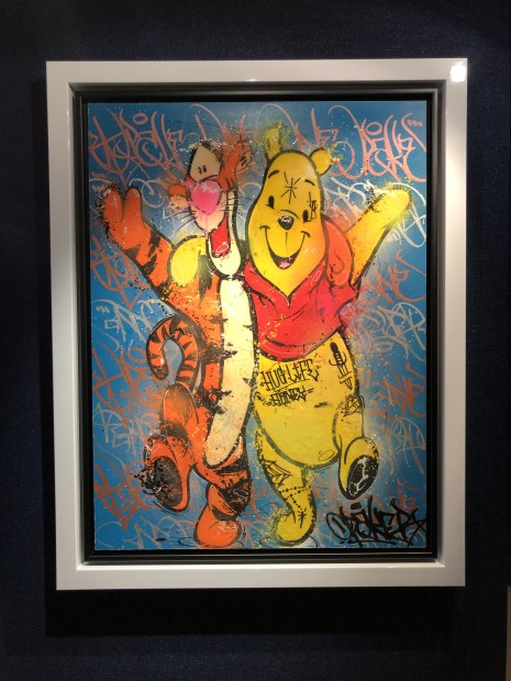 Opake One Friends For Life, 2019 Hand-drawn, mixed media original artwork: Posca Pens and Spray-paint with a resin finish Framed Size: 45 5/8 x 35 7/8 in Framed Size: 116 x 91 cm