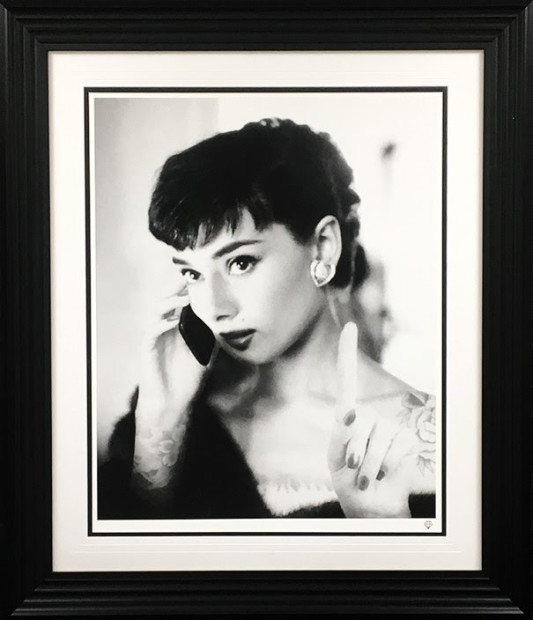 """JJ Adams Audrey Selfie , 2018 Signed Limited Edition Frame Size: 41.5"""" x 35.5"""" Limited Edition of 95 Series: A World Of Pure Imagination"""