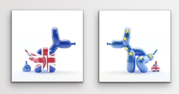 Whatshisname Brexit POPek - Small (Unframed), 2020 Pair of Limited Edition Prints Printed on Somerset Enhanced Velvet paper 330 gsm with cut edges. Available framed - Contact gallery to arrange Each Image Size: 13 3/4 x 13 3/4 in Each Image Size: 35 x 35 cm