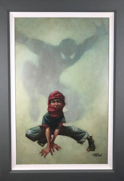 Craig Davison, Golden Years - Web Head - Canvas, 2018