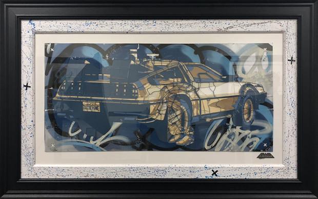 ZombieDan, DeLorean Stencil, 2018