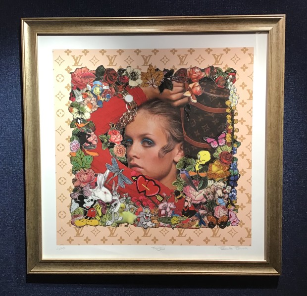 Roberta Roman Twiggy LV, 2019 Framed Limited Edition Print Hand Embellished 30 3/4 x 30 3/4 in 78 x 78 cm Limited Edition 3 Of 20