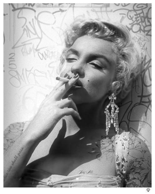 JJ Adams, Smoking Gun - Marilyn B&W, 2021