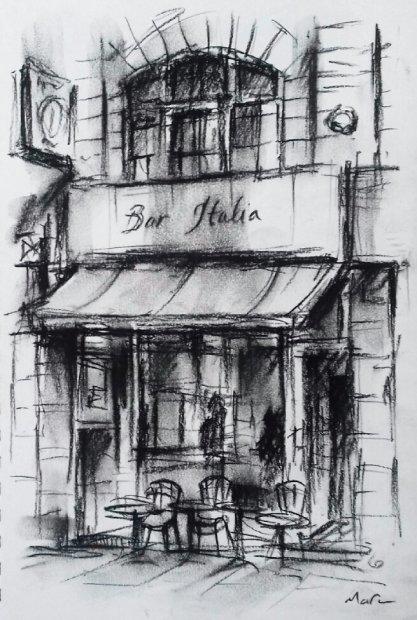 Marc Gooderham, Bar Italia Soho, 2018