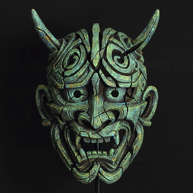 Matt Buckley, Japanese Hannya Mask - Emerald Gold Glow , 2017