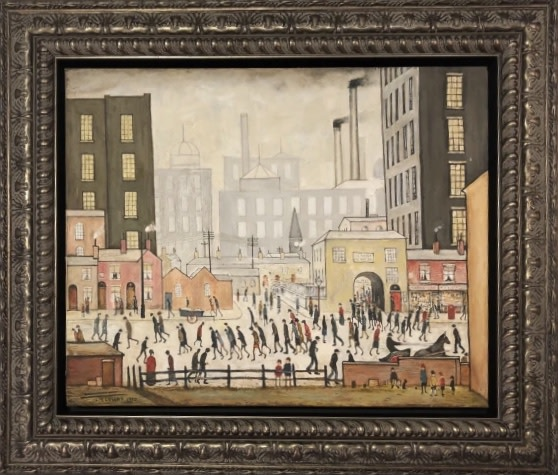 Peter Osborne, L S Lowry Coming From The Mill, 2020